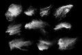 Diseño de blanco polvo nube