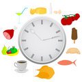 Abstract detailed clock Stock Photos