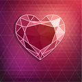 Abstract diamond background heart shaped Stock Photo