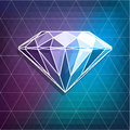 Abstract diamond background illustration with on triangles Royalty Free Stock Images