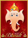 Abstract diewali greeting card with ganesh ji Stock Images