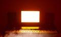 Abstract digital audio workstation (daw) studio Royalty Free Stock Photo