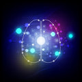 Abstract digital brain background illustration Stock Image