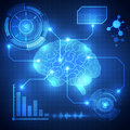 Abstract digital brain,technology concept background vector Royalty Free Stock Photo