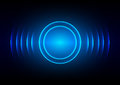 Abstract digital sound wave blue light background Royalty Free Stock Photo