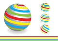 Abstract dimensional globe with color lines Royalty Free Stock Photo