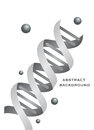 Abstract dna background designin grey color vector illustration Stock Photography