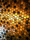 Abstract dot pixels gold black with lights and shadow backgroun