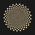 Abstract dotted shape - vector design element.