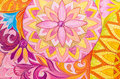 Abstract drawing oil paints on a canvas with floral ornament background graphic Stock Image