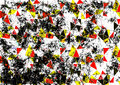 Abstract drawn background. Artistic wallpaper in red, black, white colors. Royalty Free Stock Photo