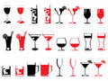 Abstract drinking glass collection Royalty Free Stock Photo
