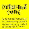 Abstract dripping font Stock Images
