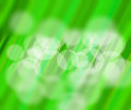 Abstract dynamic background green blur wbith white circles Stock Photography