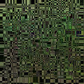 Abstract dynamic green background on black