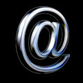 Abstract E-mail AT symbol on black background Royalty Free Stock Photo