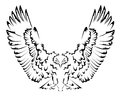 Abstract eagle tattoo vector illustration background Royalty Free Stock Photo