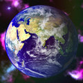 Abstract Earth blue planet in space Royalty Free Stock Image