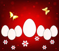 Abstract easter background art vector Stock Photo