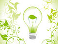 Abstract eco green bulb background Stock Images