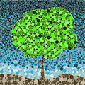 Abstract eco nature pattern leaf groundwork tree summer