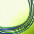 Abstract artistic green new year text