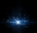 Abstract electric effect flash on a black background Royalty Free Stock Photography