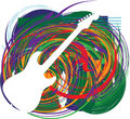Abstract electric guitar illustration Stock Image
