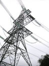 Abstract electricity pylon Royalty Free Stock Image