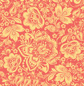 Abstract elegance seamless pattern with floral background vector Royalty Free Stock Image