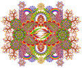 Abstract element of the rug- a Paradise Royalty Free Stock Photo