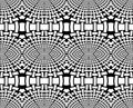Abstract ellipses pattern black and white coloring page