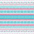 Abstract embroidered background seamless pattern in folk style Royalty Free Stock Image