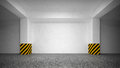 Abstract empty underground parking interior Stock Images