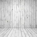 Abstract empty white room interior with wooden wall and floor Stock Photography