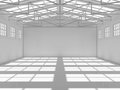 Abstract empty white warehouse interior Royalty Free Stock Photo
