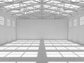 Abstract empty white warehouse interior Royalty Free Stock Photo