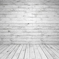 Abstract empty white wooden room interior with wall and floor Stock Photos