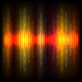Abstract equalizer background. Red-orange wave. Royalty Free Stock Photo