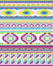 Abstract ethnic background illustration of colorful Royalty Free Stock Images