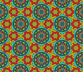 Abstract ethnic pattern seamless geometric african in vivid colors fancy multicolored background ornament vector file is Royalty Free Stock Images