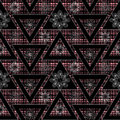 Abstract ethnic seamless geometrical pattern bright elements background