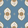 Abstract ethnic seamless pattern. Traditional background. Boho style. Paisley print hand drawn elements.