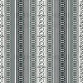 Abstract ethnic seamless pattern, vector illustration, old ornamental background. Ornate vertical tracery in gray, black and white