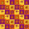 Abstract ethnical african seamless geometric pattern Royalty Free Stock Images