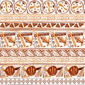 Abstract exotica ethnic tribal Indian ornament seamless pattern