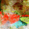 Abstract expression painting. Royalty Free Stock Photo
