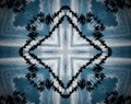 Abstract extruded mandala cross