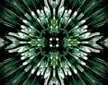 Abstract extruded mandala 3D illustration cross