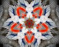 Abstract extruded mandala 3D illustration